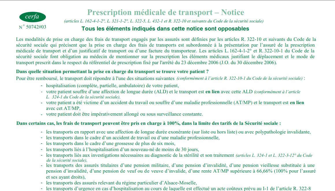 specimen prescription médicale