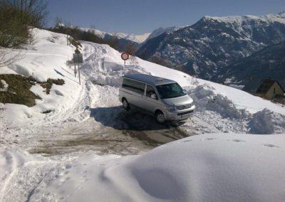 mini-bus taxi serre chevalier neige
